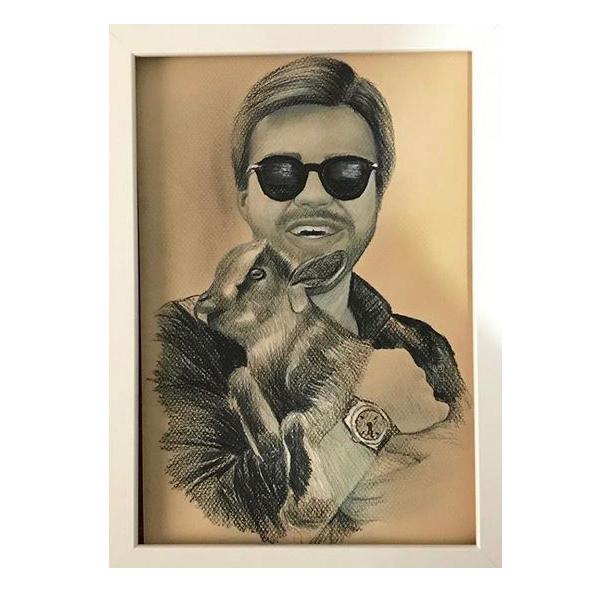 kisiye ozel el yapimi karakalem portre cizim hediyesi 21 x 30 cm